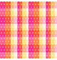 seamless abstract plaid check with polka texture vector image vector image
