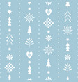 seamless christmas pattern with stylized snowflake vector image vector image