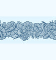seamless lace pattern with flowers vector image vector image