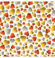 seamless valentines pattern with golden and red vector image vector image