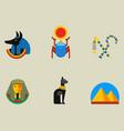 Set flat design egypt travel icons