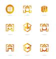 set logos homes vector image vector image