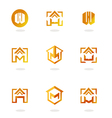 set of logos homes vector image