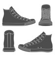 set with sneakers gumshoes vector image vector image
