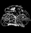 silhouette eagle mascot logo design vector image