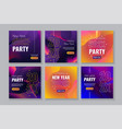 social media post templates for new year party vector image vector image