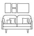 soft sofa icon outline style vector image