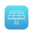 Solar panel line icon vector image vector image