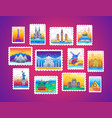 stamps - line travel vector image vector image