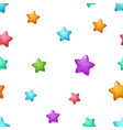 star cartoon pattern blue pink green yellow vector image vector image