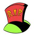 tombstone rip icon cartoon vector image vector image