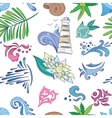 Travel Sea Colorful Pattern vector image vector image