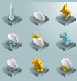 weather color gradient isometric icons vector image