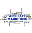 word cloud affiliate marketing vector image vector image