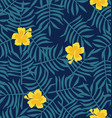 yellow hibiscus flower background vector image