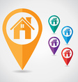 Home pin pointer vector image