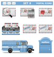 Postal Icons Set 8 vector image