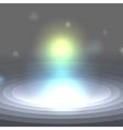 White shining drop icon vector image