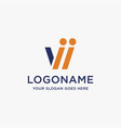 Abstract letter w logo icon template