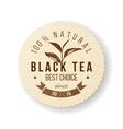 Black Tea label vector image vector image