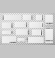 blank tickets with barcode realistic vector image vector image