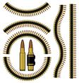 Bullet and machinegun cartridge belt