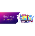 business intelligence concept banner header vector image vector image