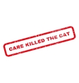 Care Killed The Cat Text Rubber Stamp