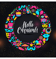 carnival on black in neon vector image vector image