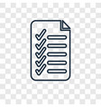 check list concept linear icon isolated on vector image