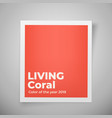 color year 2019 living coral palette vector image vector image
