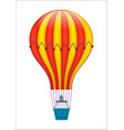 colorful air balloon isolated icon vector image vector image