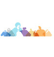 colorful people silhouettes men women standing vector image