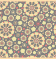 colorful seamless pattern with floral elements vector image vector image