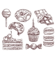Confectionery sketches hand drawing vector image vector image