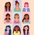 diversity women different nationalities vector image vector image