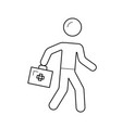 emergency care line icon vector image vector image