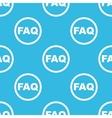 FAQ sign blue pattern vector image vector image
