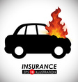 fire insurance vector image vector image