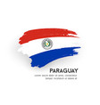 flag paraguay brush stroke design isolat vector image