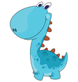 funny smiling dino vector image vector image