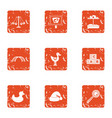 game on avenue icons set grunge style vector image vector image