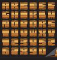 gold font set vector image vector image