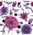 Hand drawn floral seamlees pattern vector image