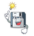 have an idea floppy disk in the writing wallet vector image vector image