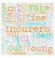 Life Insurance Plan For Life text background vector image vector image