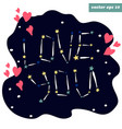 love you stars vector image vector image