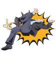 man slipping on banana peel stock vector image vector image