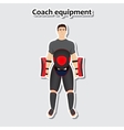 Man with coach equipment vector image