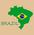 Map of brasil icon flat of icon for web on yellow